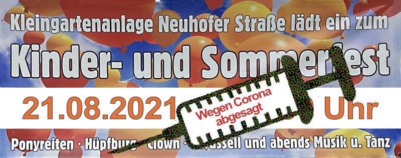 Sommerfest 2021 Neuhofer Strasse